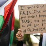 Libanesische Solidaritätdemonstration mit der Hamas während der Militärauseinandersetzungen mit Israel