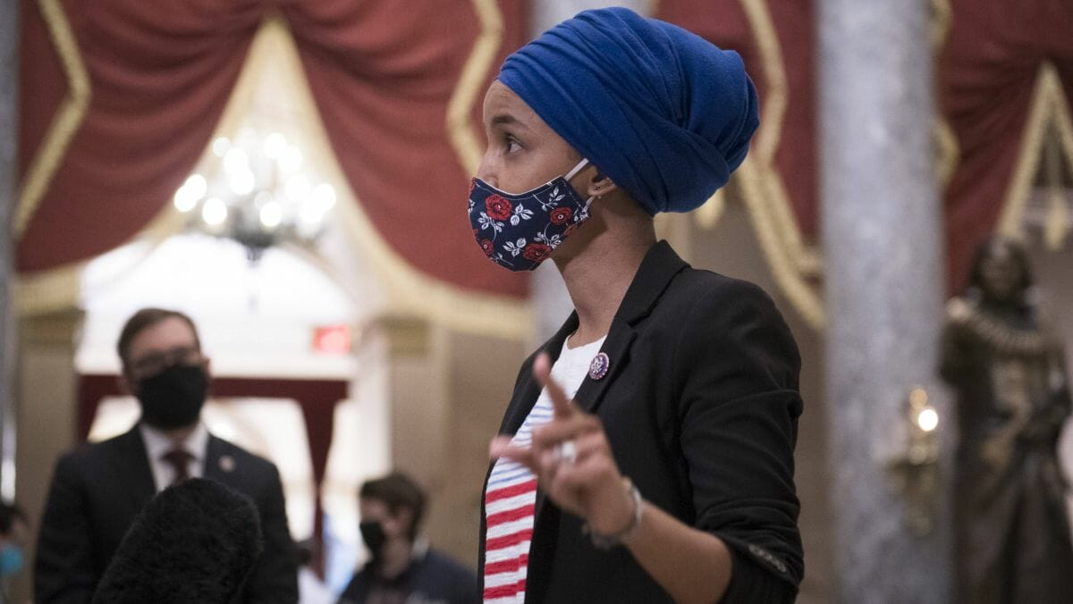 Die demokratische US-Abgeordnete Ilhan Omar