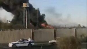 Auf sozialen Medien tauchten Videos von dem Brand auf