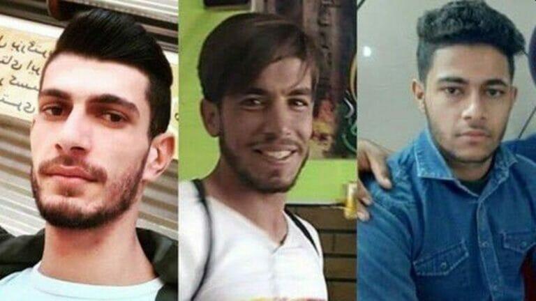 Drei vom iranischen Regime getötete Demonstranten: Ali Mazraeh, Qassem Khediri und Mustafa Naimavi