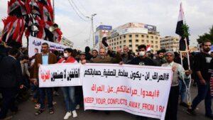 Bagdad: Demonstration gegen den iransichen Einfluss auf den Irak
