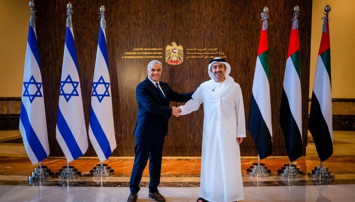 Israels Außenminister in den vereinigten Arabischen Emiraten