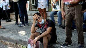 In Beirut demonstrierten Angehörige der Explosionsopfer