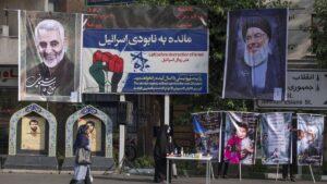 Bild des Hisbollah-Führers Nasrallah in Teheran
