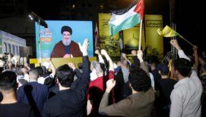 Rede von Hisbollah-Chef Nasrallah in Beirut