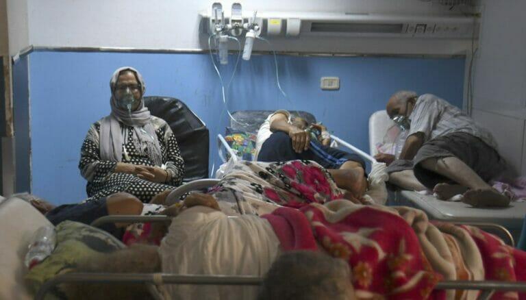 Corona-Patienten in einem tunesischen Krankenhaus