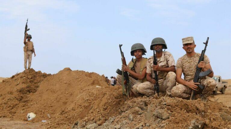 Jemenitische Regierungssoldaten in Marib