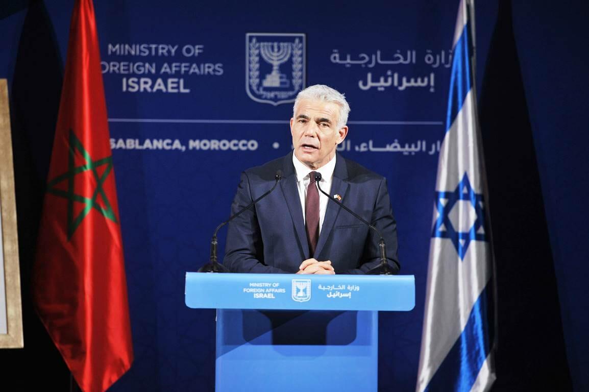 Folge des Abraham-Abkommens: Israelas Außenminister Jair Lapid zu Besuch in Marokko. (© imago images/Xinhua)