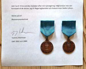 Offener Brief des schwedischen Afghanistan-Veteranen Tommy Wahlman. (Quelle: Tommy Wahlman/Twitter)
