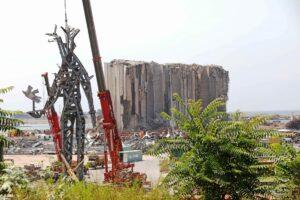 Ground Zero im Hafen von Beirut, ein Jahr nach der Katastrpohe. (© imago images/Xinhua)