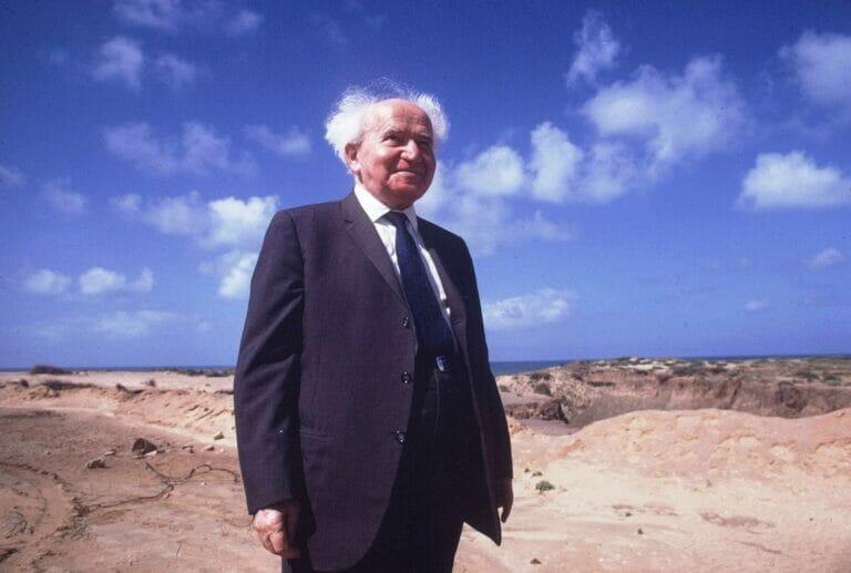 An ihm konnte Omri Boehm bei seiner Umschreibung der Geschichte nicht vorbei: Israels Staatsgründer David Ben-Gurion. (© imago imags/Sven Simon)