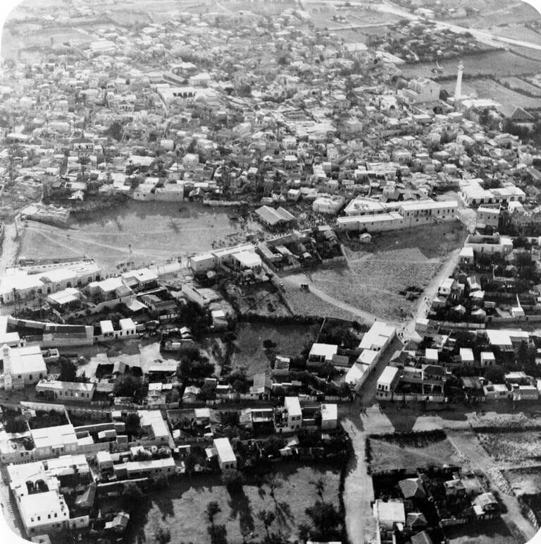Luftaufnahme von Lydda aus dem Jahr 1948. (© imago images/United Archives International)