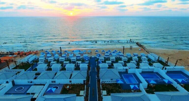 Aus einem Werbevideo des Bianco Resorts in Gaza. (Quelle: Bianco Resort/Facebook)