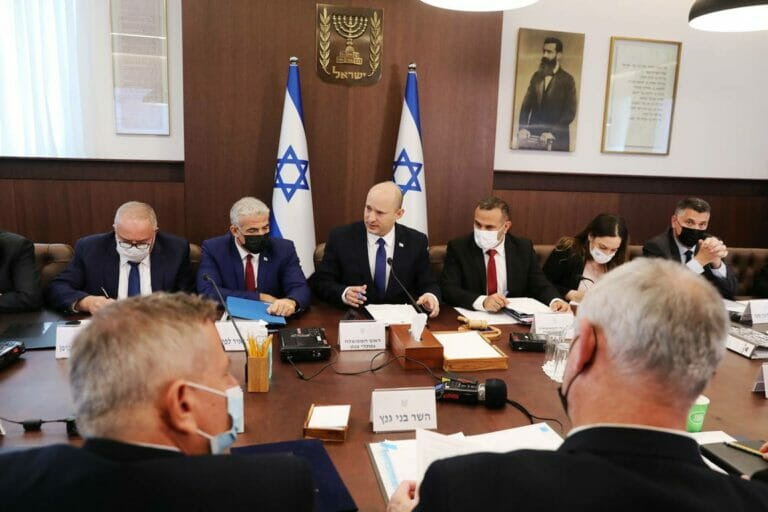 Regierungssitzung unter Israels neuem Premier, Naftali Bennett. (© imago images/UPI Photo)