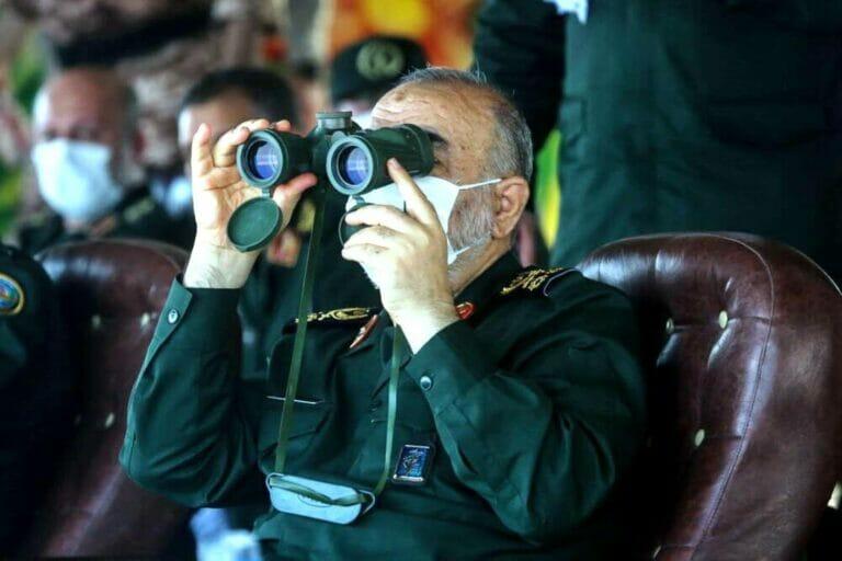 Hat den Irak im Visier: Der Chef der iranischen Revolutionsgrarde Hossein Salami. (© imago images/ZUMA Wire)