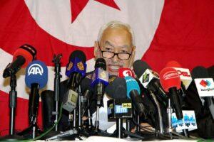 Rahed Ghannouchi, Anführer der islamistischen Ennahda-Partei in Tunesien. (© imago images/Yassine Mahjoub)