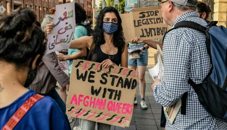 Solidaritätsdemonstration mit Afghanistan in Irland