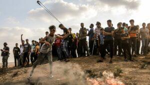 Bei gewaltsamen Ausschreitungen am Gaza-Grenzzau wurde auf israelische Soldaten geschossen