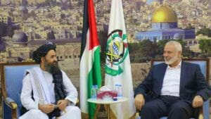 Treffen zwischen Abdul Ghani Barader (Taliban9 und Ismail Haniyeh (Hamas)