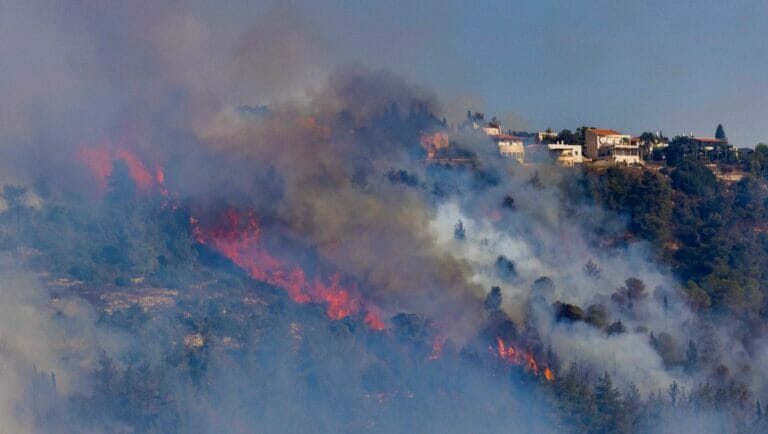 Walbrände bei Jerusalem