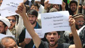 Demonstration gegen die Taliban