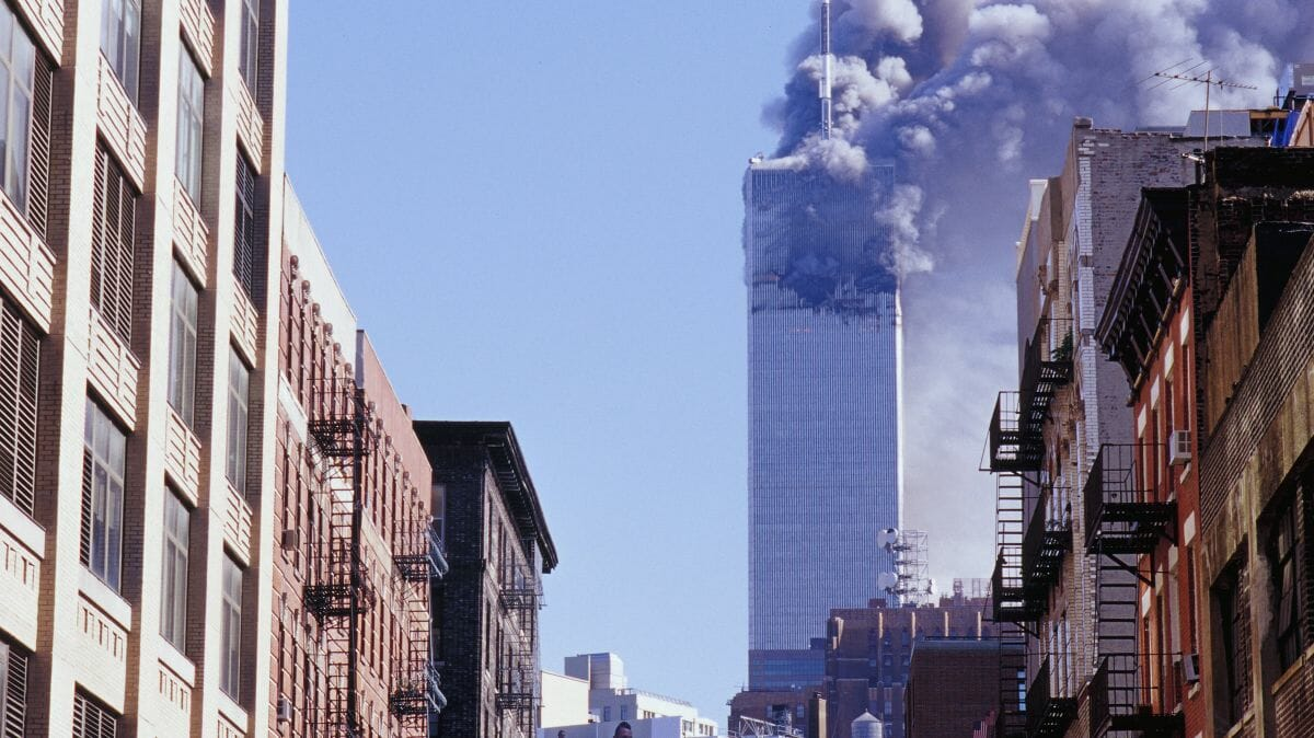 Das Word Trade Center am 11. September 2001