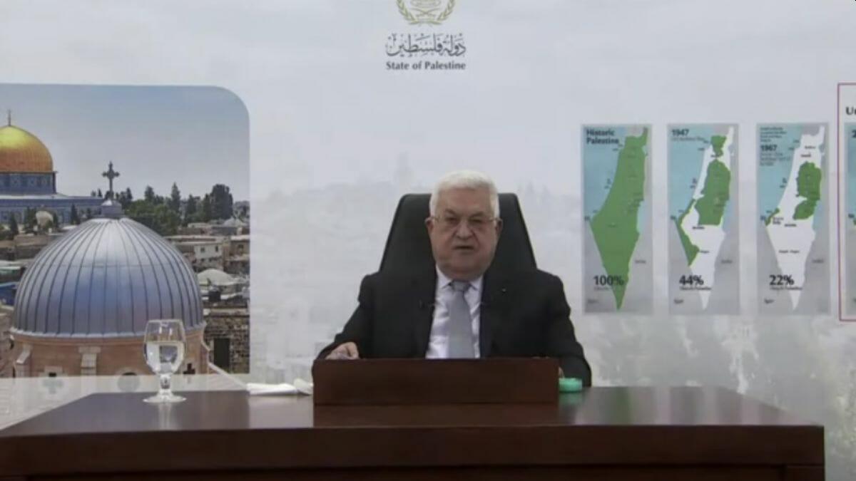 Mahmud Abbas bei seiner Rede vor der UNO-Generalversammlung