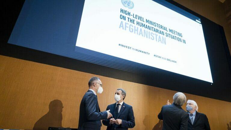 Deutscher Außenminister Heiko Maas auf der Afghanistan-Geberkonferenz in Genf