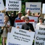 Antisemitische Demonstration vor der Synagoge in Michigans Universitätsstadt Ann Arbor
