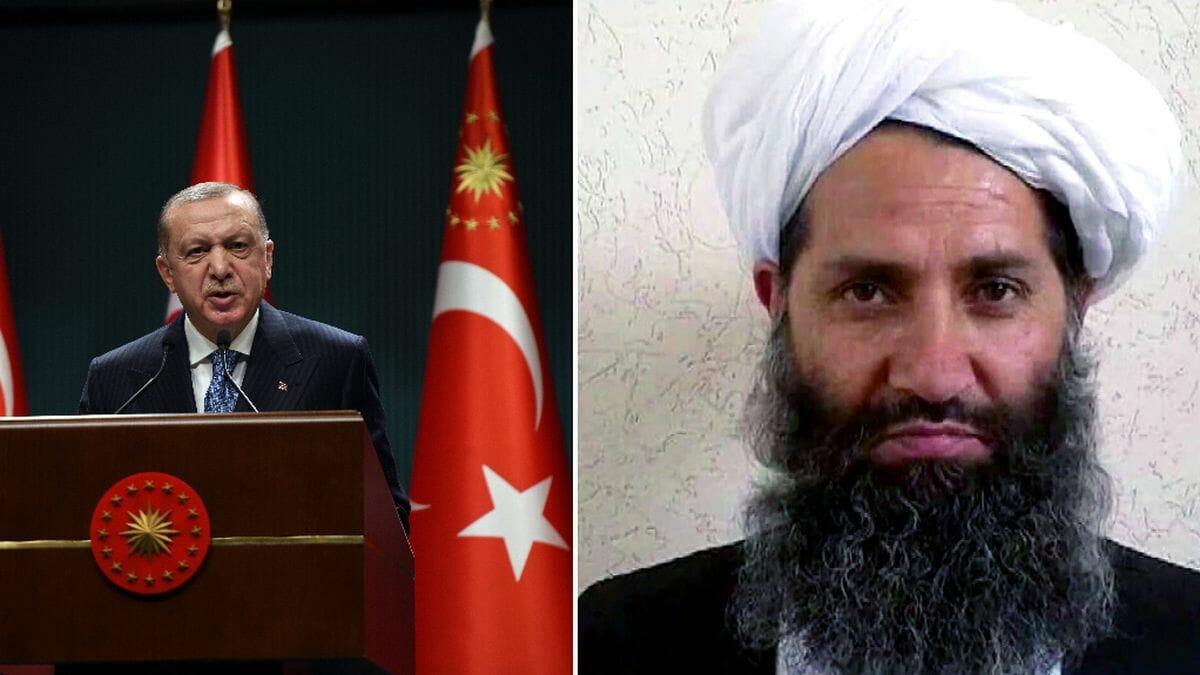 Türkischer Präsident Recep Tayyip Erdogan, Taliban-Anführer Mullah Haibatullah Akhundzada