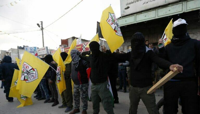 Mitgleieder der Fatah in Hebron