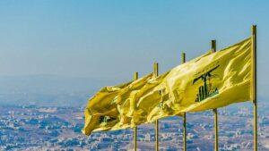 Die Flagge der Hisbollah weht über dem Libanon