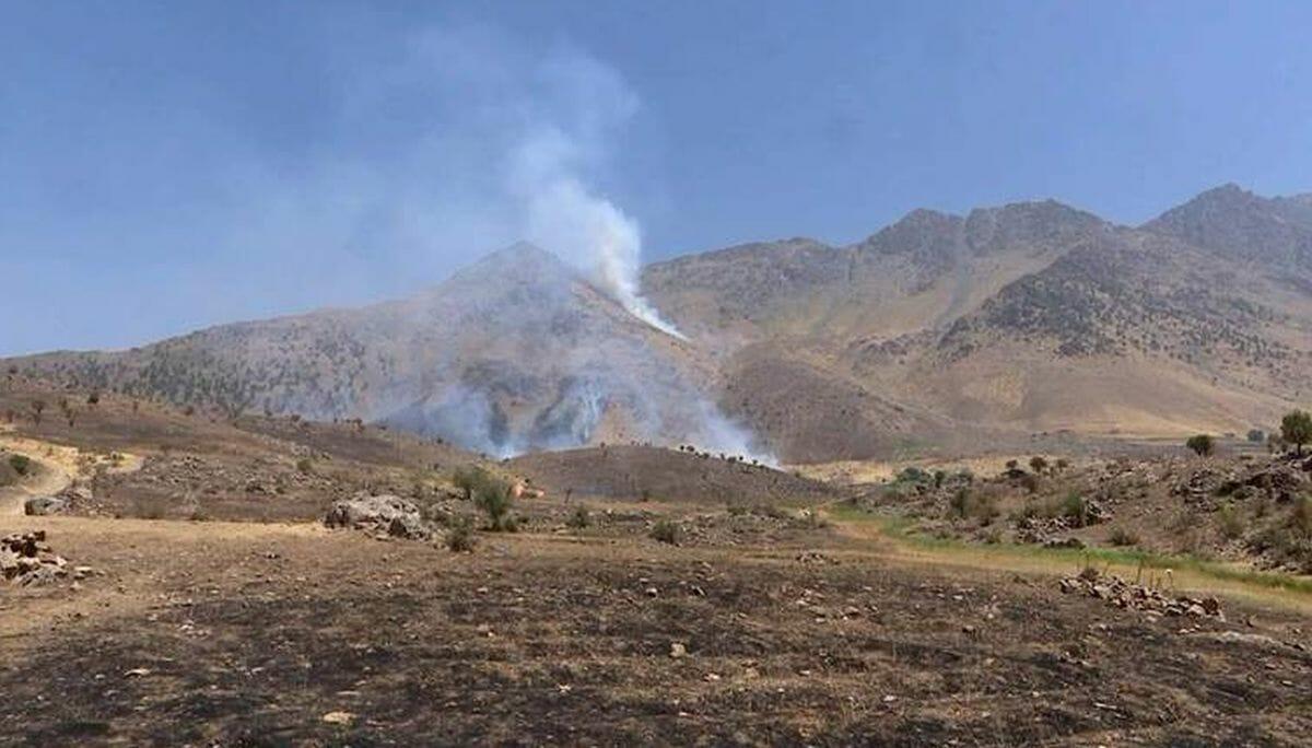 Iranische Angriffe in der Region Barbzin im nordirakischen Bezirk Erbil