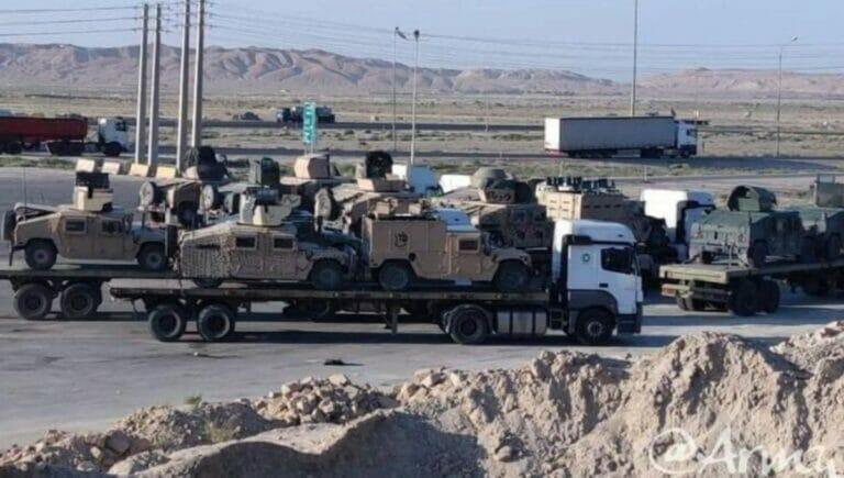 Laut augenzeugen liefern die Taliban US-Militärmaterial in den Iran