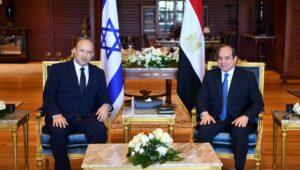 Israels Premierminiter Bennett zu Besuch bei Ägypten Präsident al-Sisi