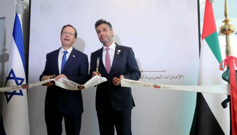 Eröffnung der Botschaft der Vereinigten Arabischen Emirate in Israel