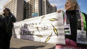 """Demonstration der """"Jewish Voice for Peace"""" in Atlanta/USA"""