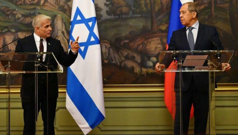 Israels Außenminister Lapid zu Besuch bei seinem russichen Amtskollegen Lawrow