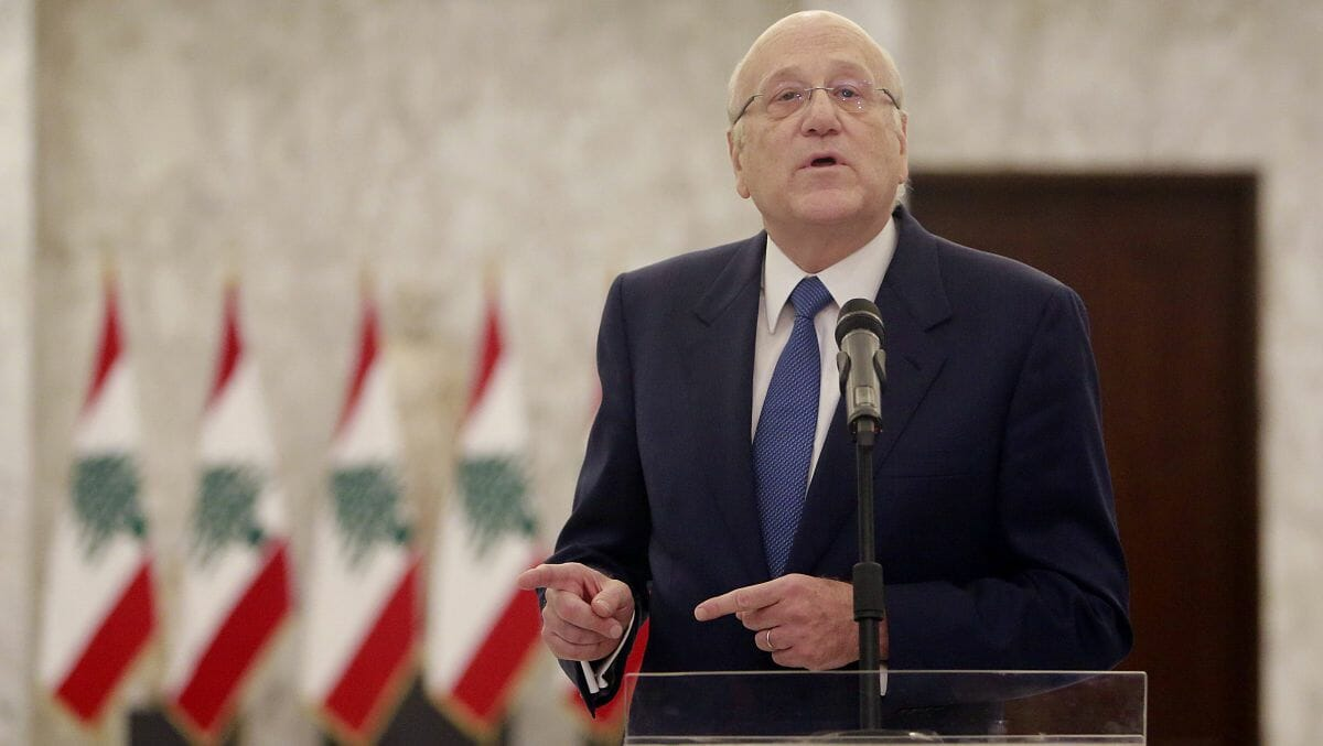 Der designierte libanesische Premierminister, Najib Mikati