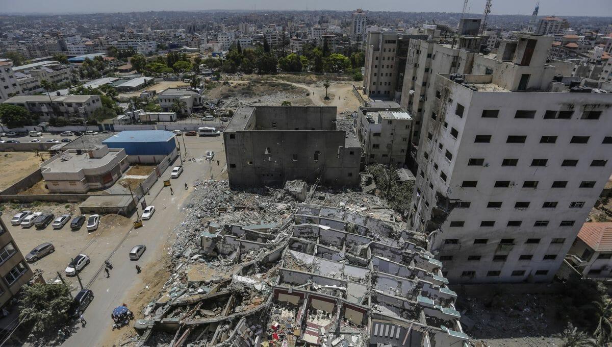 Kaum Kollateralschäden: Ruinen des von der Hamas genutzten al-Jalaal Towers in Gaza