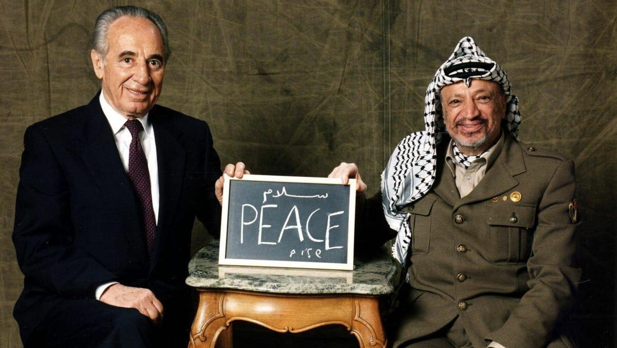 Shimon Peres und Yassir Arafat im Jahr 1994