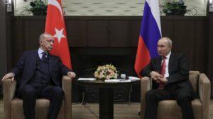 Putin und Erdogan bei ihrem Treffen in Sotchi