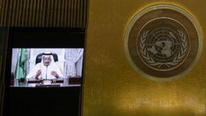 Rede des saudischen König Salman vor der UN-Generalversammlung