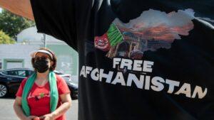 Afghanen in den USA demonstrieren gegen die Taliban