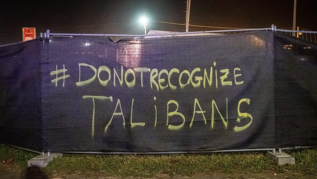 Afghanische Frauen fordern, die Taliban nicht anzuerkennen