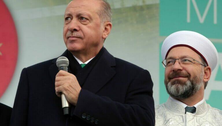 Präsident Erdogan und Diyanet-Chef Erbas