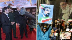 Ahmad Vahidi (in Uniform) und Mohsen Rezaei sitzen im Kabinett des iranischen Präsidenten Raisi
