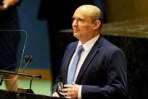 In seiner Rede vor der UN-Generalversammlung strich Premier Bennett die Vielfalt innerhalb seiner Regierung hervor. (© imago images/Pacific Press Agency)