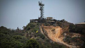Ein militärischer Vorposten der Israel Defense Forces an der Grenze zum Libanon