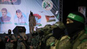 Gedenkfeier der Hamas für ihre in der Westbank getöteten Kämpfer